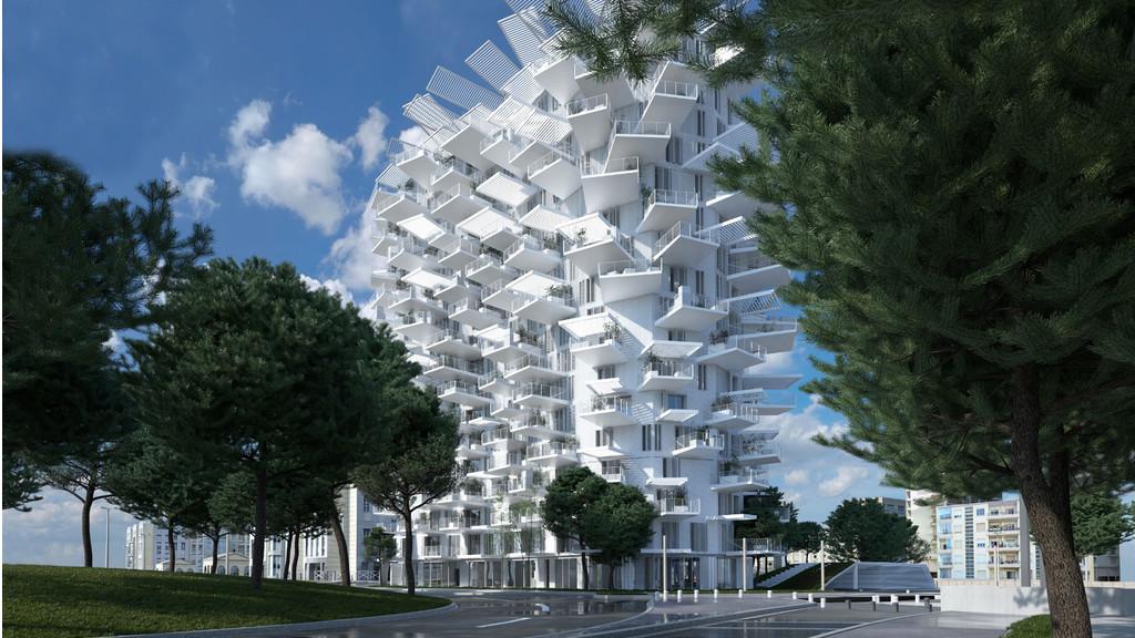 A Montpellier, une tour inspirée de l'arbre et de la nature