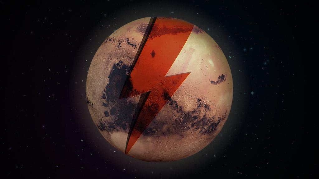 Des fans veulent rebaptiser la planète Mars au nom de David Bowie