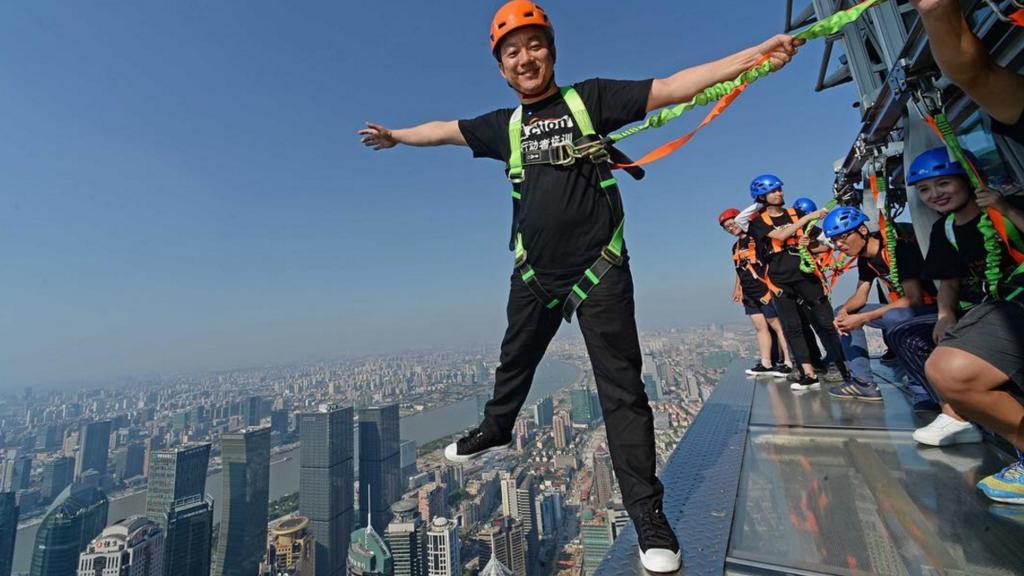 A Shangai, des touristes de l'extrême !