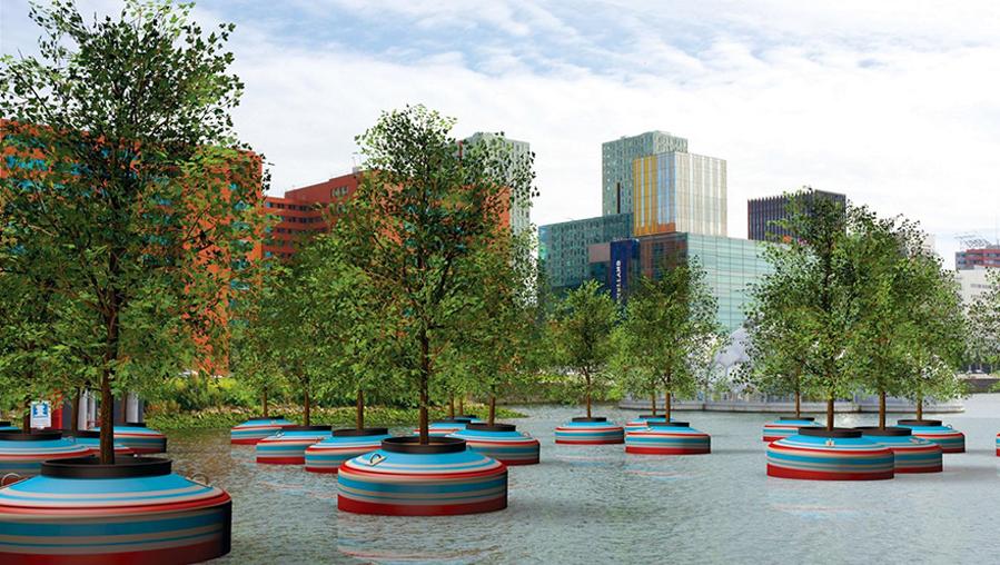 Bientôt une forêt flottante à Rotterdam