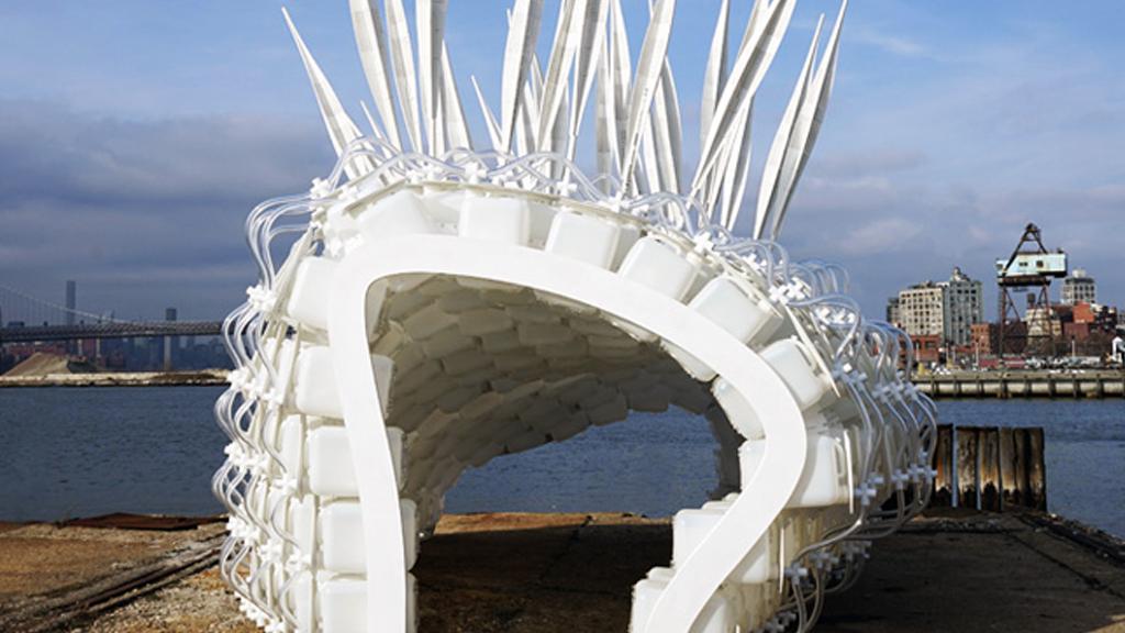 L'abri du futur: un igloo rempli de criquets à manger