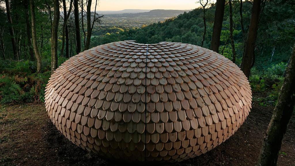 Une bulle de bois parfaite pour méditer
