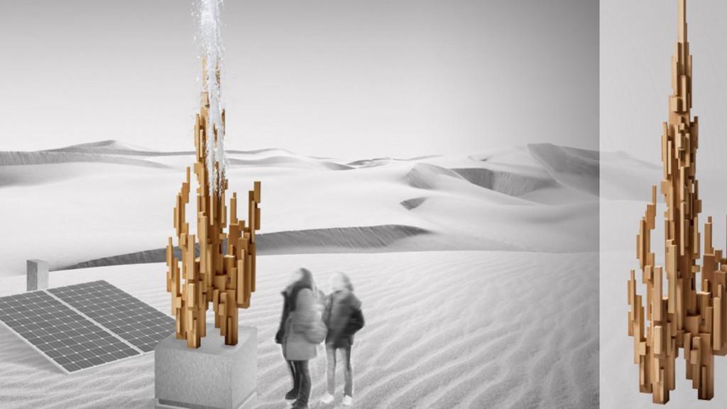 Une sculpture qui transforme l'air en eau