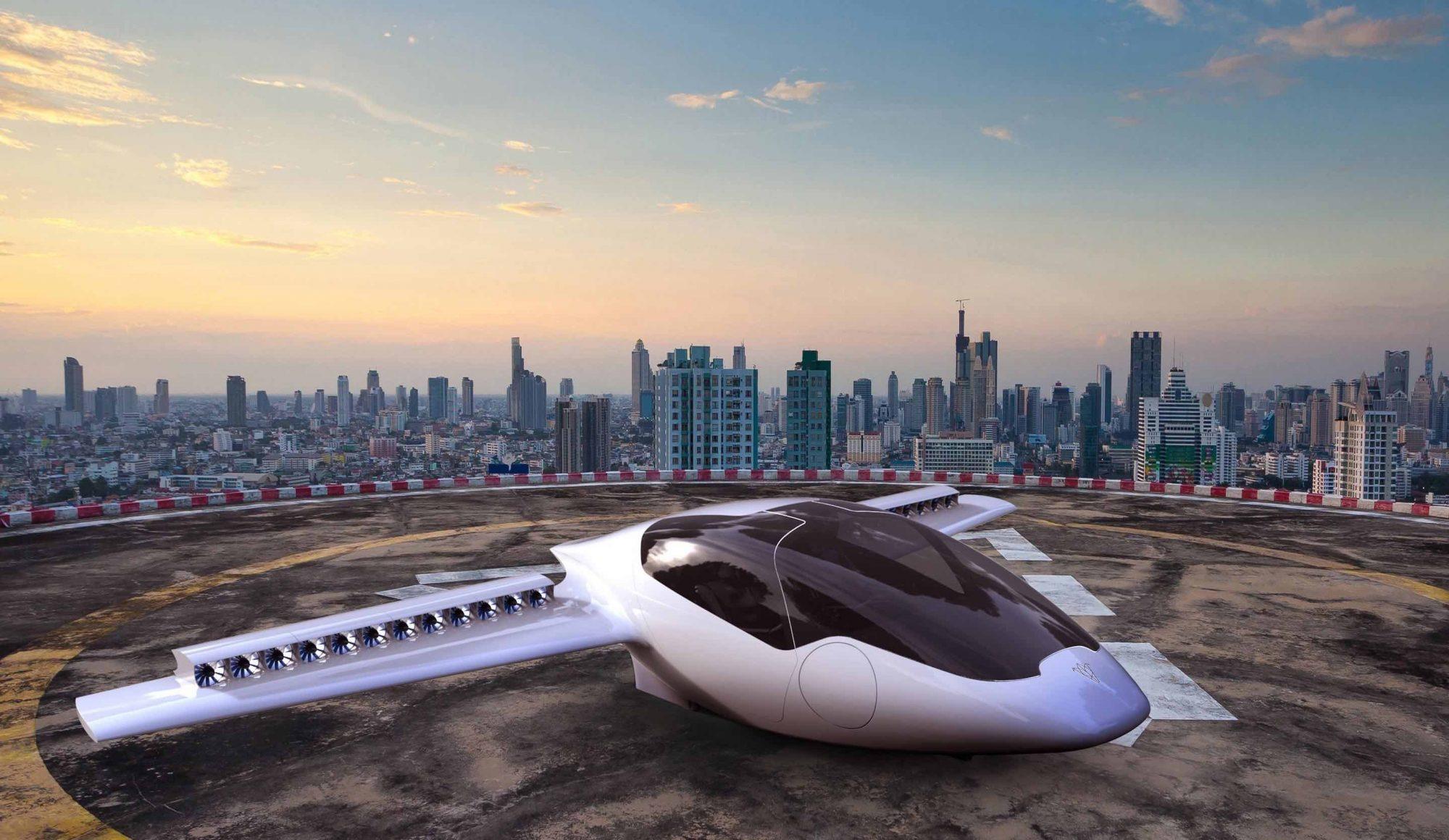 Une voiture volante futuriste attise les convoitises