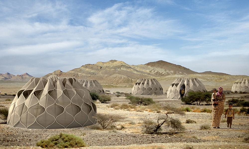 Des tentes high-tech pour aider les réfugiés climatiques