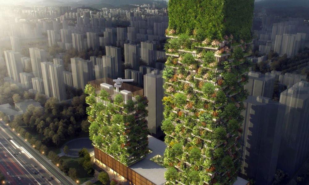 En Chine deux gratte-ciel verts vont (enfin) dépolluer l'air