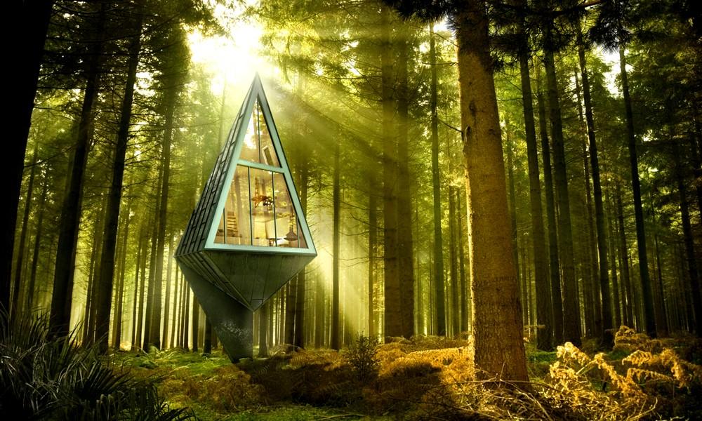 Habiter une maison autosuffisante en pleine forêt
