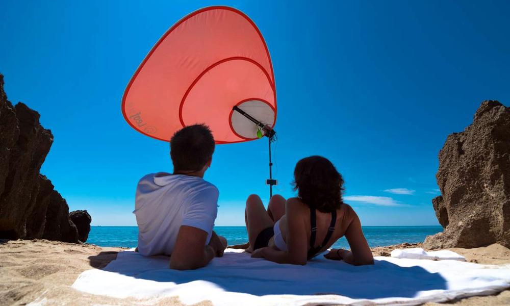 Chargeur, nomade et solaire : des Toulousains ont réinventé le parasol