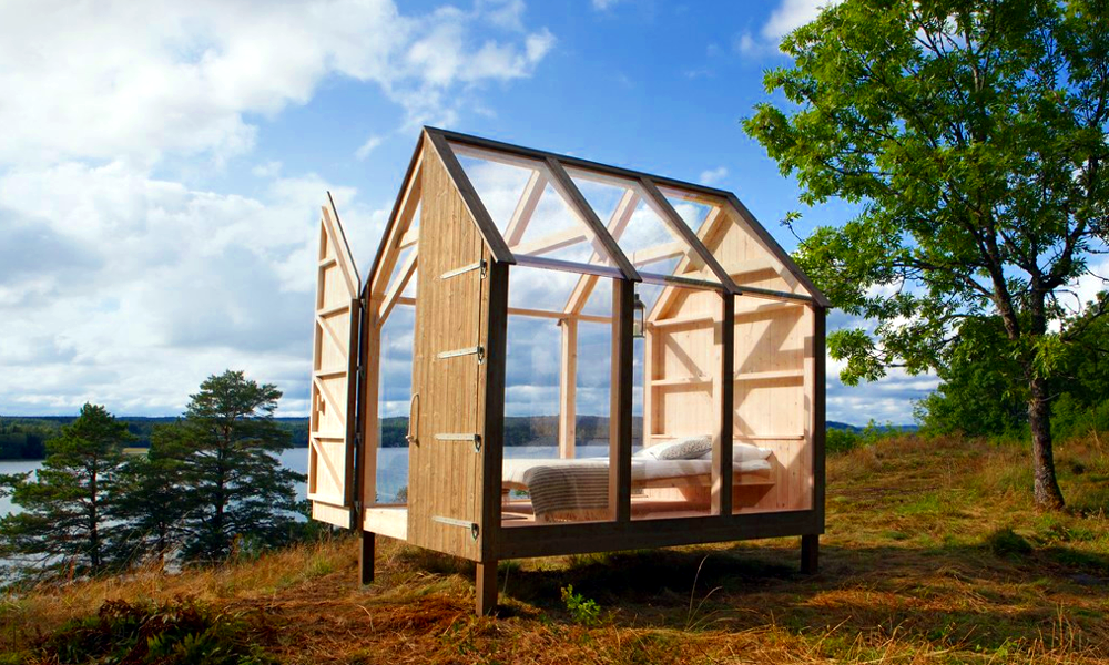 La Suède expérimente des cabanes anti-stress en pleine nature