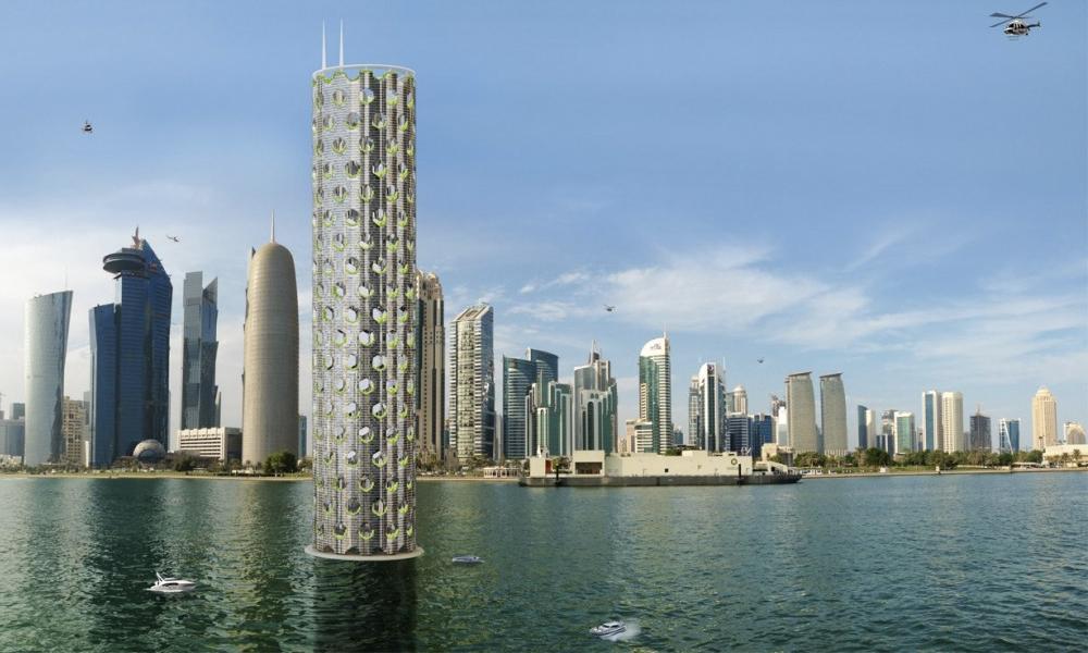 Face à la montée des eaux, l'immeuble du futur sera aquatique