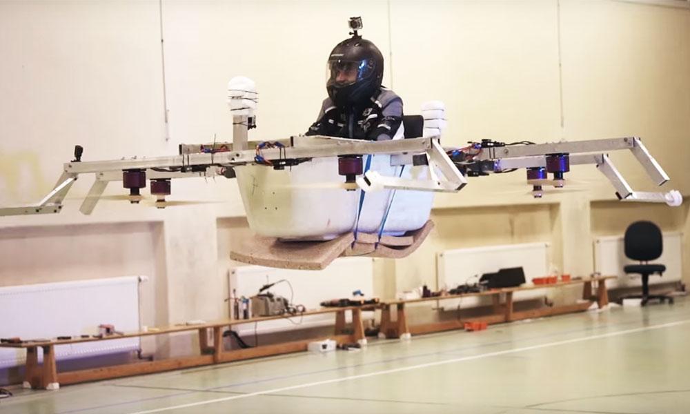 Oui, fabriquer un quadcopter avec une baignoire, c'est possible