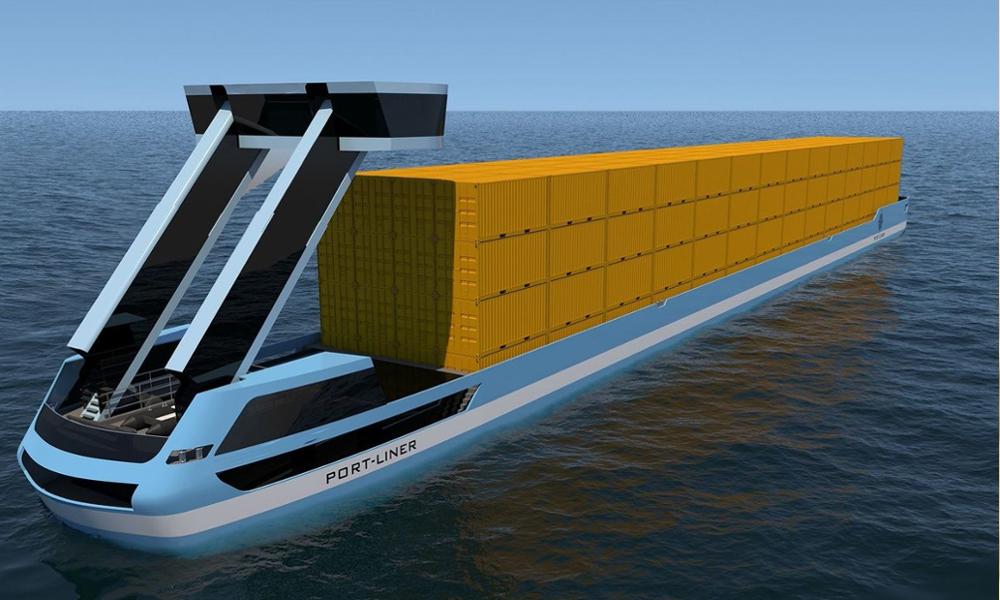 La mort des cargos polluants grâce à la première barge 100% électrique