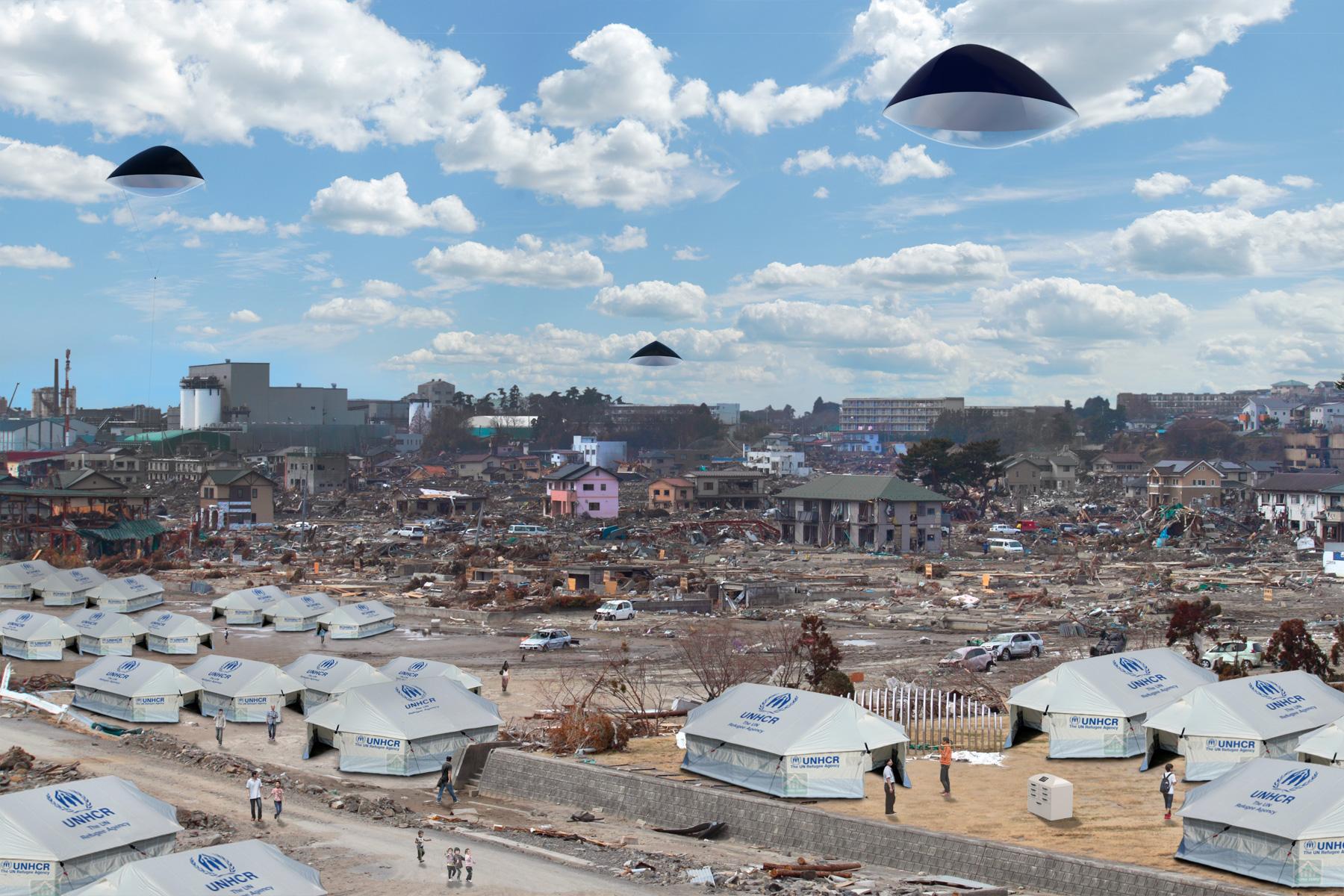 Des panneaux solaires volants pour aider les pays en crise