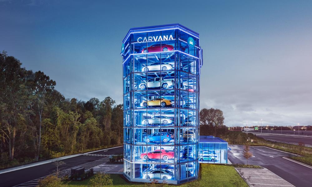 Cette tour est un distributeur automatique de voitures