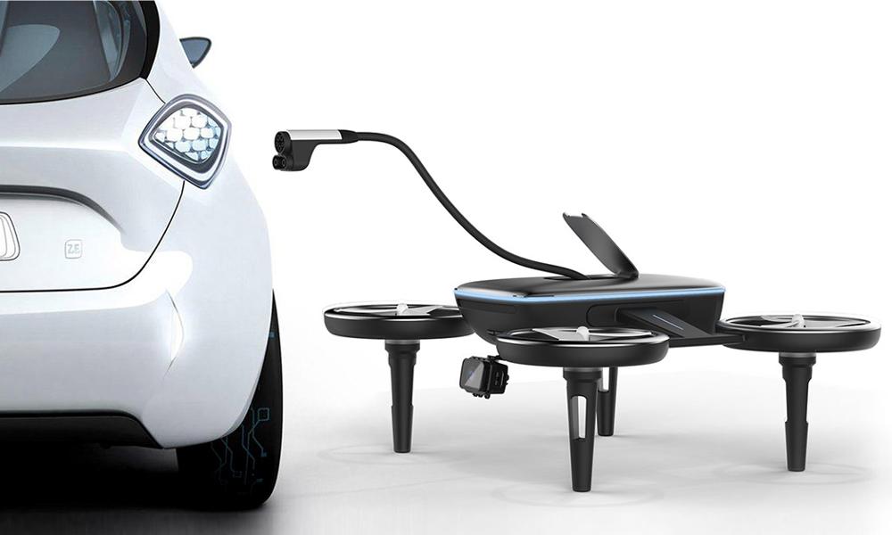 Et si on laissait des drones recharger nos voitures ?
