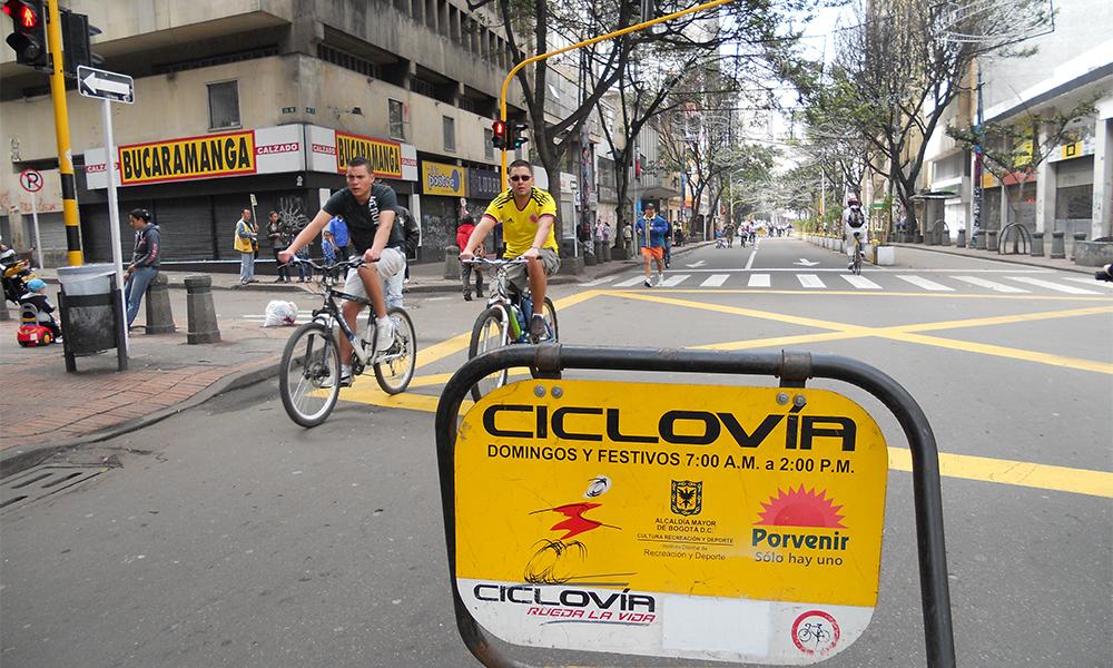À Bogota, les voitures sont interdites tous les dimanches