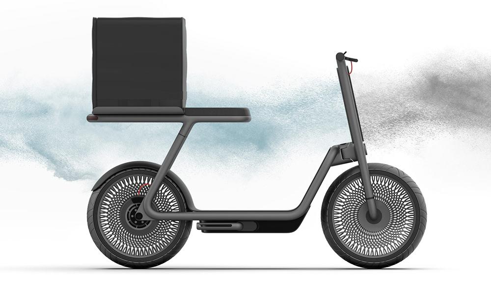 Ce scooter électrique nettoie l'air en roulant