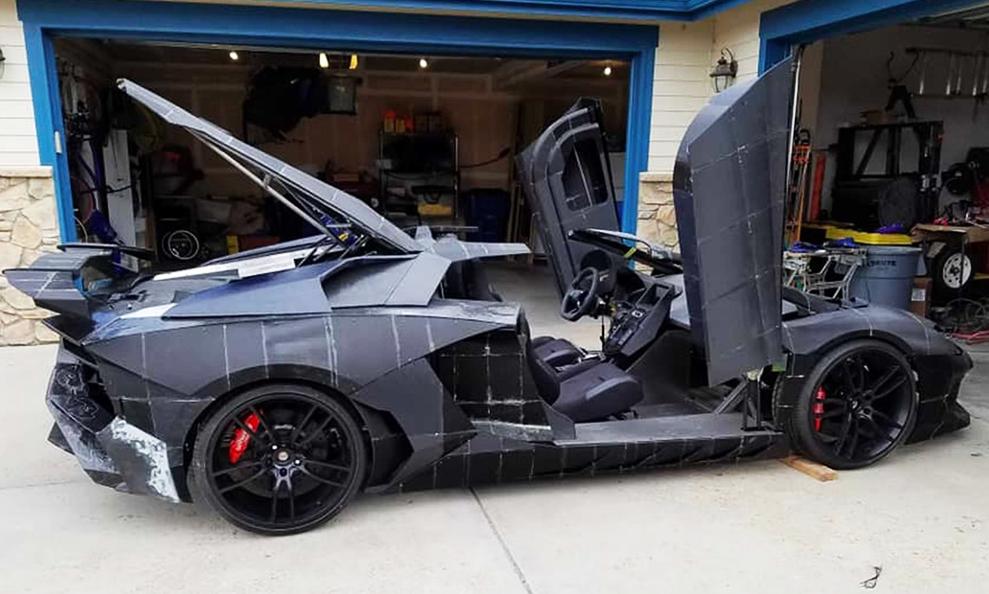 Son fils voulait une Lamborghini, le père lui en fabrique une dans son garage