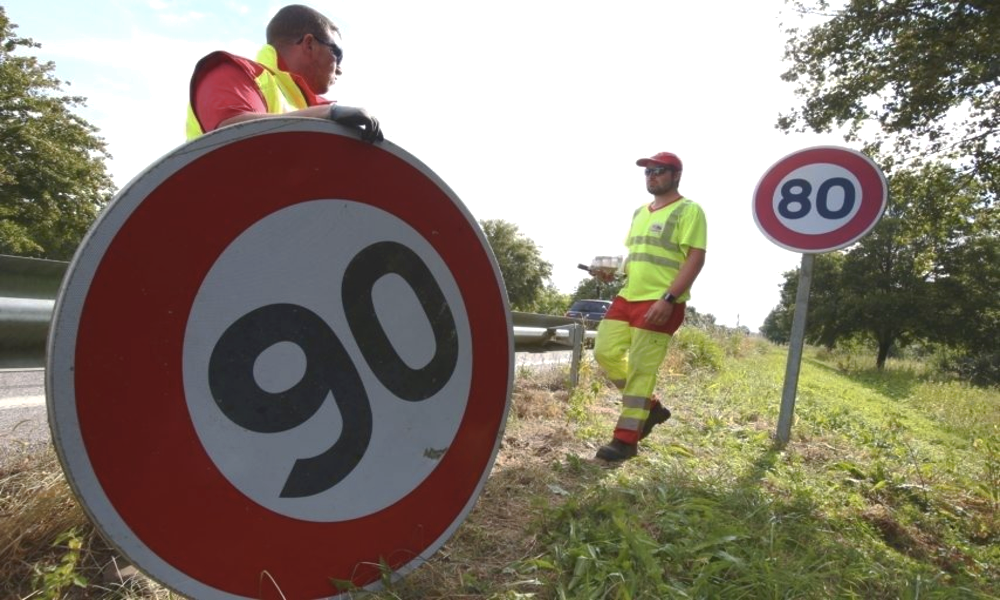 En fait, la moitié des départements ne repasseront jamais à 90 km/h