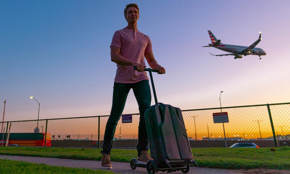 Objectif numéro 1 : repartir en vacances avec cette valise trottinette