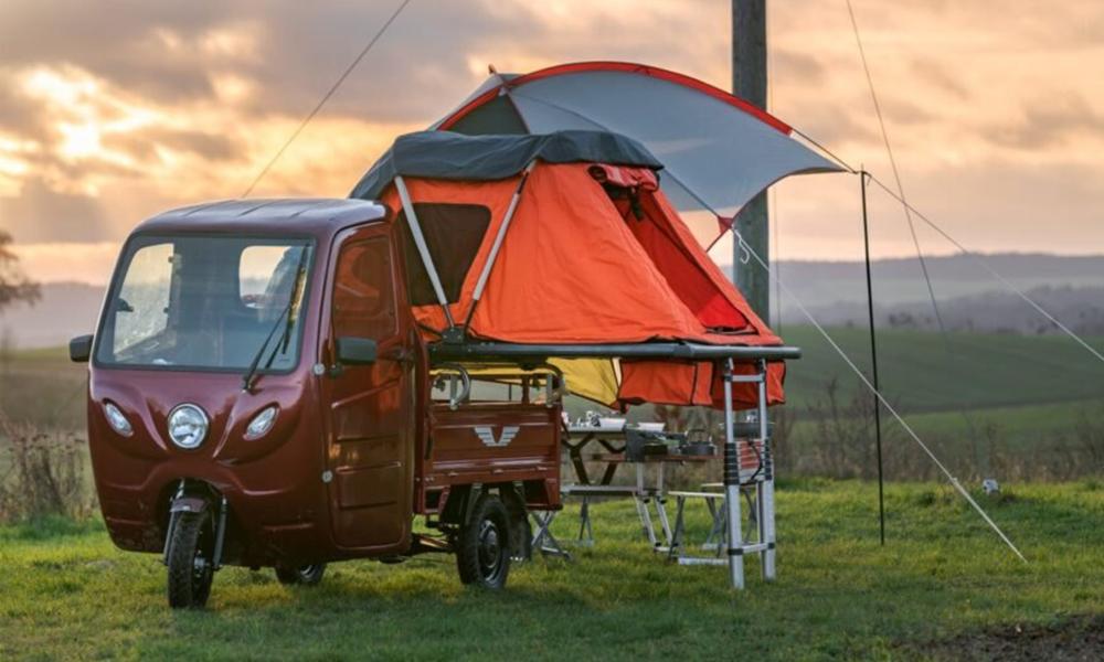 Trois roues et électrique, voici le plus petit camping-car du monde