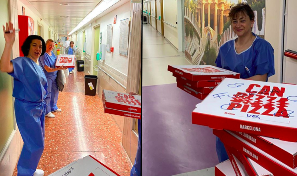 Coronavirus: en Espagne, des pizzas gratuites sont livrées au personnel soignant