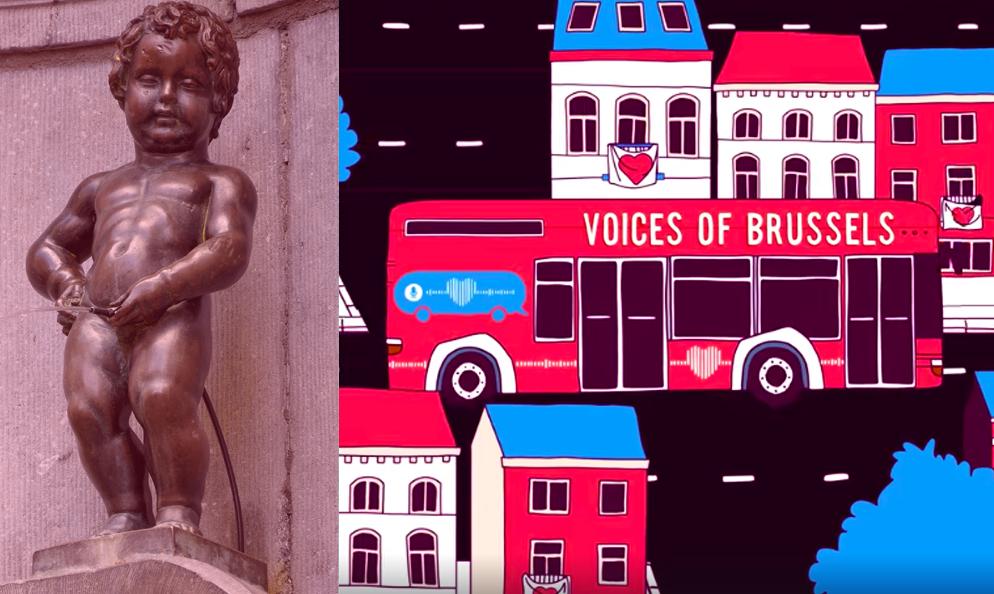 À Bruxelles, ce bus livre un message d'amour à la personne de votre choix
