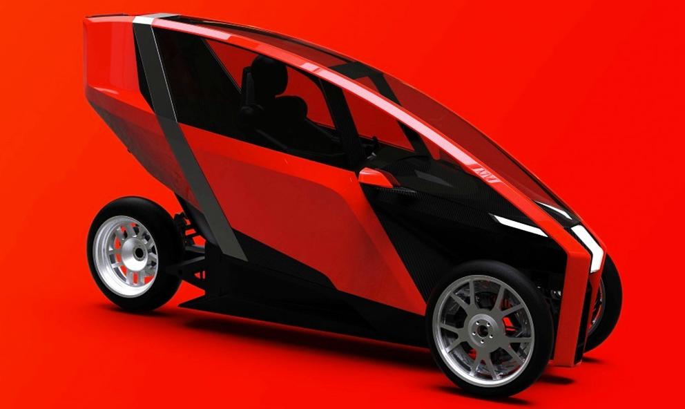 AKO, la mini-voiture électrique à trois roues qui vous emmène partout