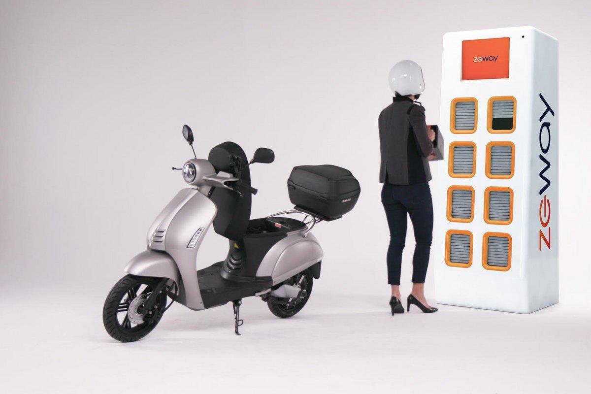 Les scooters électriques à batterie échangeable arrivent en France