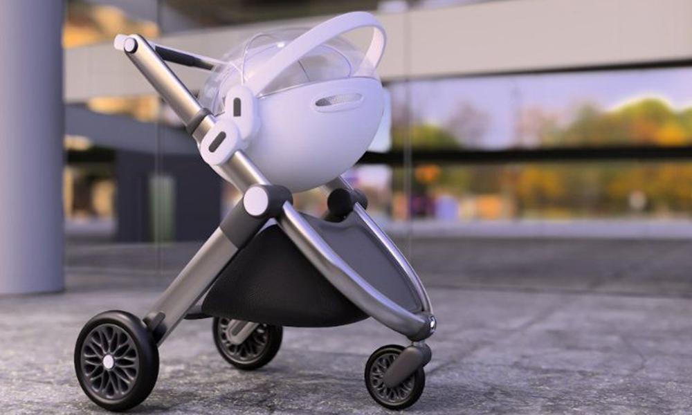 Cette poussette-capsule protège les bébés de la pollution