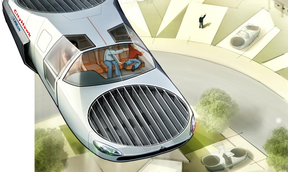 Cette voiture à hélices volera à l'hydrogène dès 2022