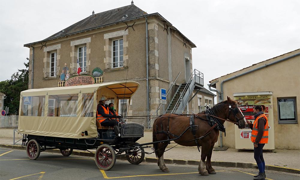 En Vendée, ces enfants se rendent à l'école en calèche