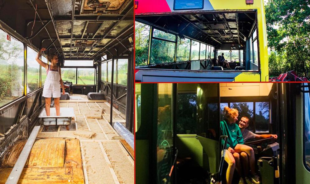 Histoire belge : pour 1200 €, ils rachètent un vieux bus pour vivre dedans