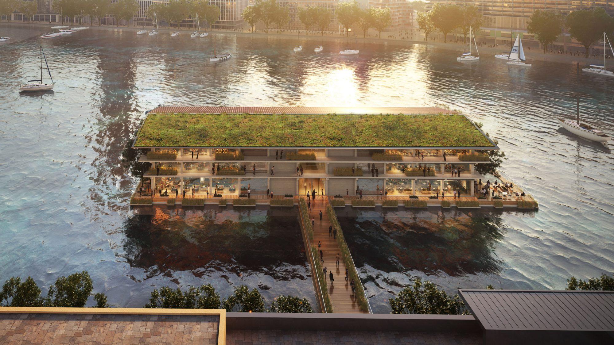 Et si les bureaux du futur étaient flottants et livrés par bateau ?