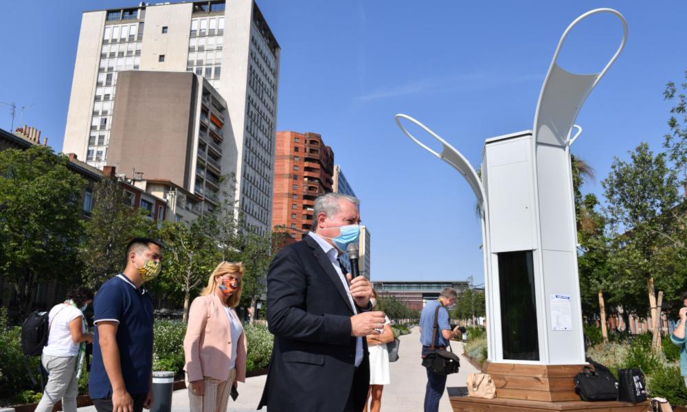 Toulouse inaugure Kyanos, un aspirateur de CO2 qui dépollue autant que 100 arbres