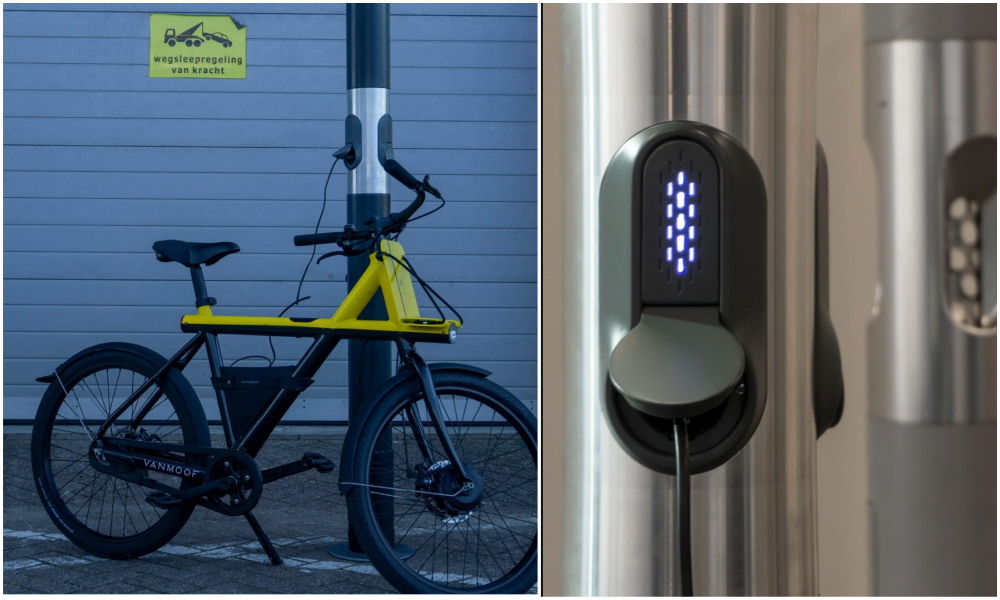 Aux Pays-Bas, les cendriers sont recyclés en bornes de recharge pour vélo
