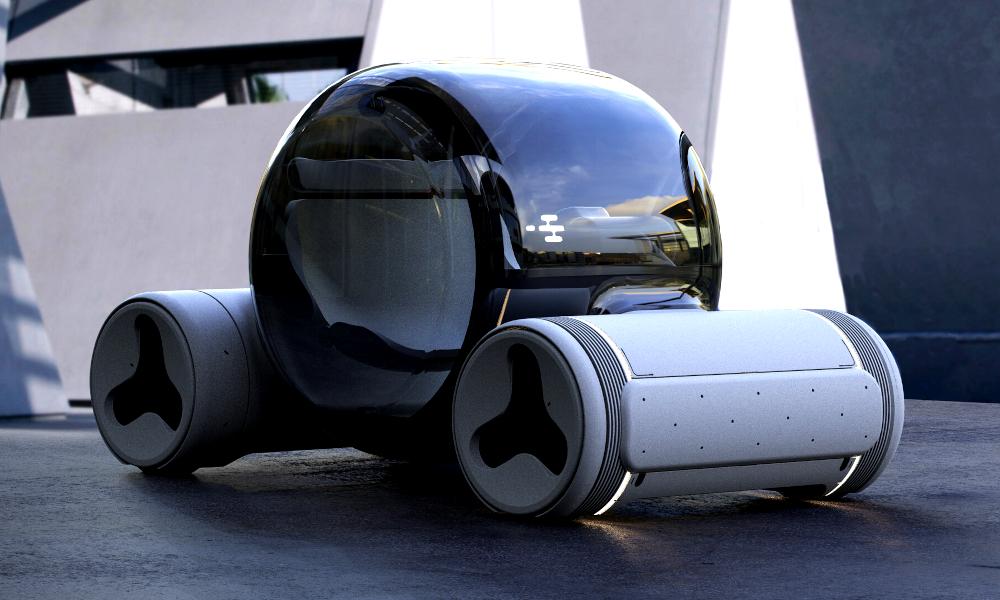 Cette voiture à hydrogène est construite à partir de déchets plastiques