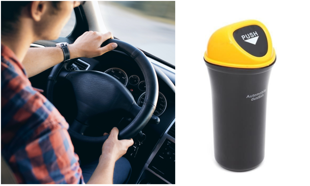 Un Français vient d'inventer la première poubelle à installer dans sa voiture