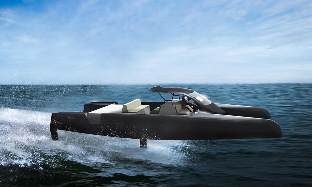 MerConcept, un projet de catamaran électrique qui vole sur l'eau