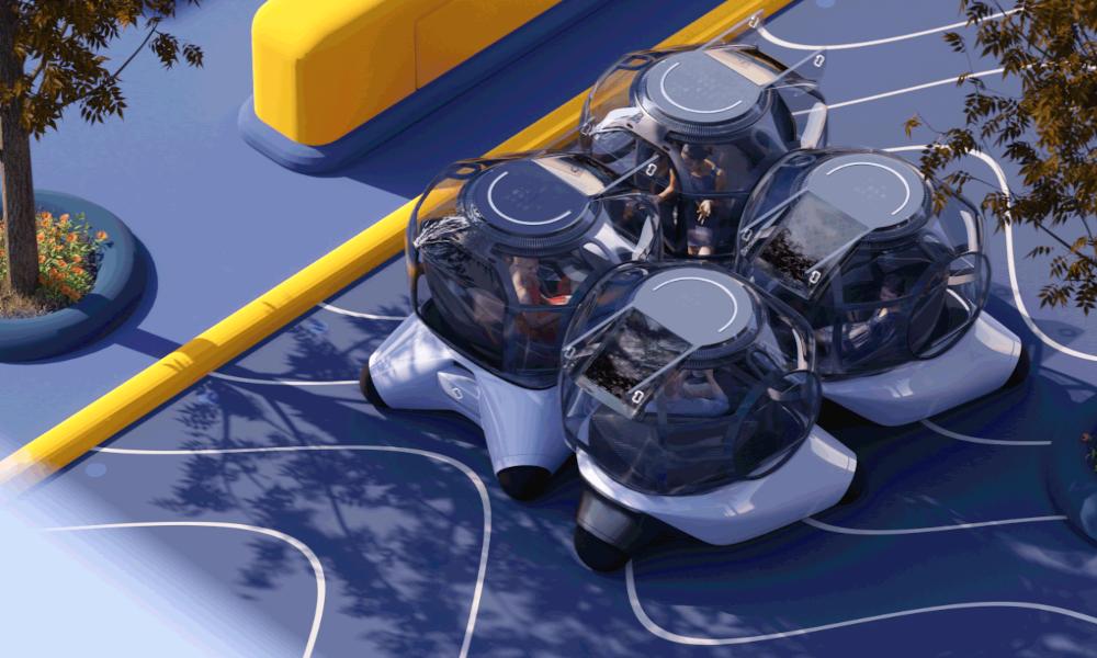 Le futur, ce sont ces voitures-bulles qui s'accrochent entre elles pour discuter