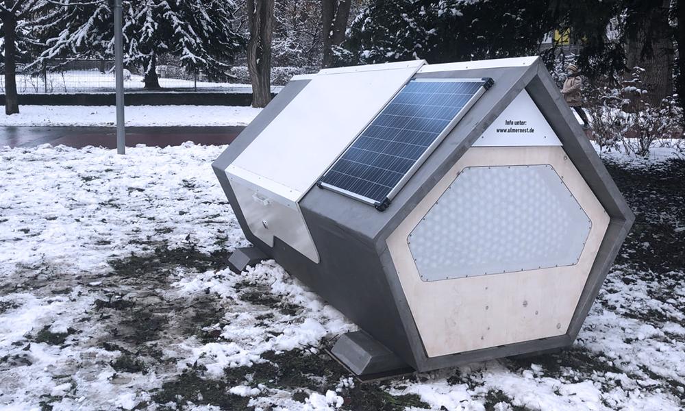 Contre le froid hivernal, l'Allemagne invente les capsules pour sans-abri
