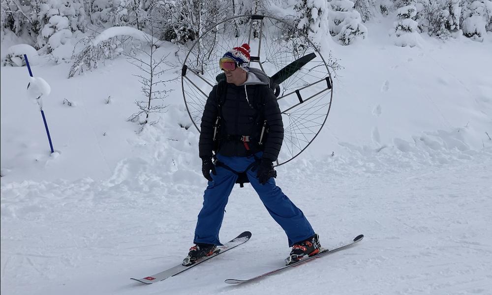 Privés de remontée mécanique, ces Lorrains inventent le ski à moteur