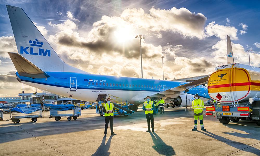 """Ecologie : KLM inaugure le premier vol commercial avec du """"carburant vert"""""""