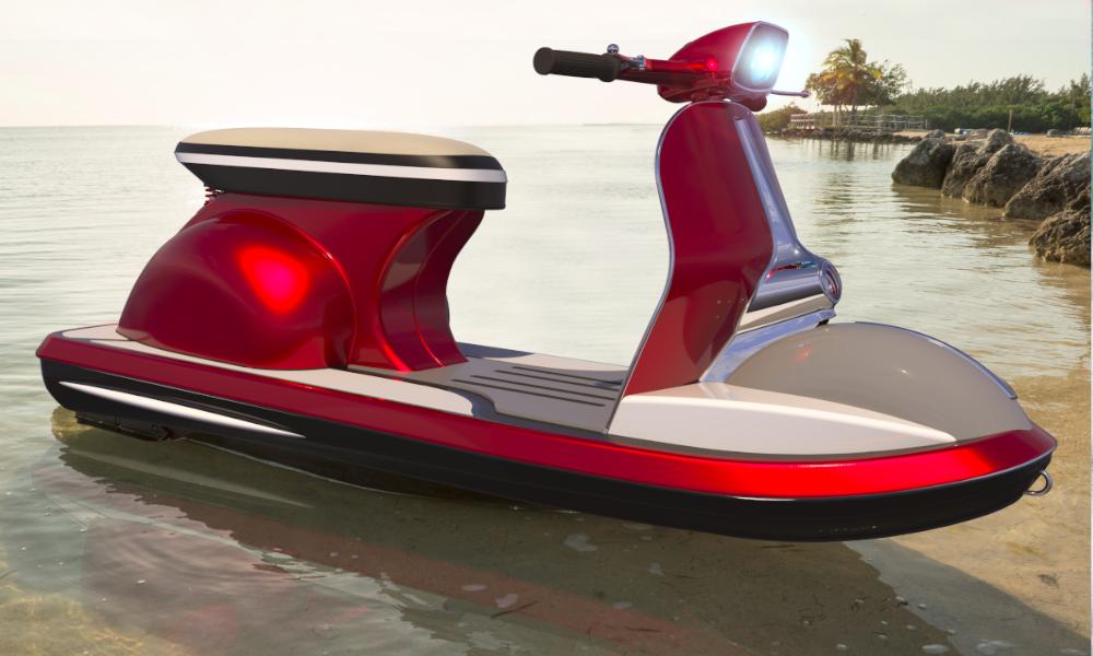 Et si l'avenir du Vespa, c'était ce nouveau scooter des mers ?