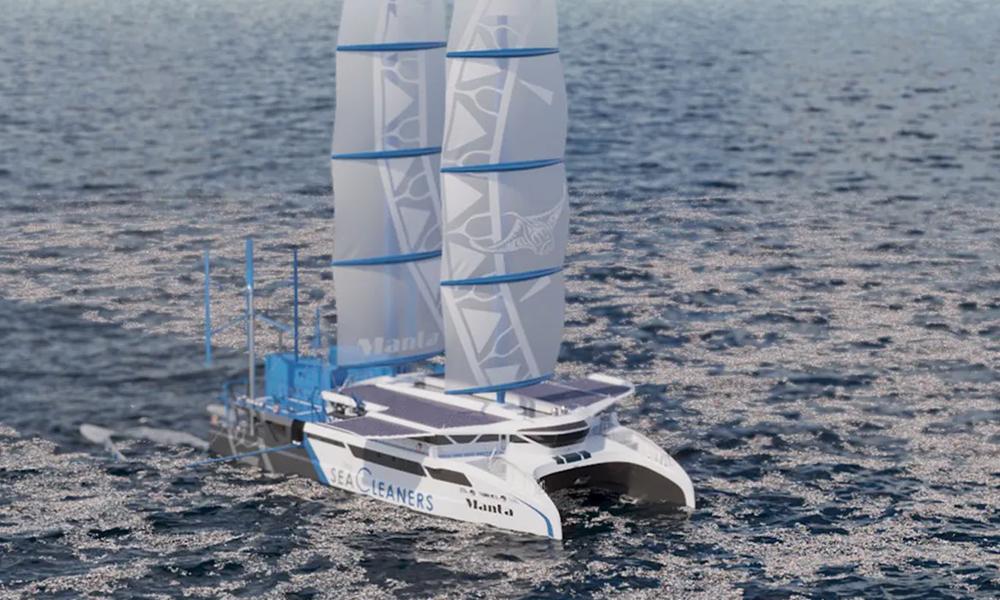 """Dès 2024, ce voilier français prendra la mer pour """"manger"""" les déchets plastiques"""