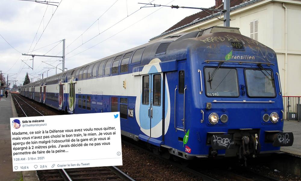 Conducteur de la SNCF, il sauve une femme du suicide et lui envoie un tweet plein d'espoir