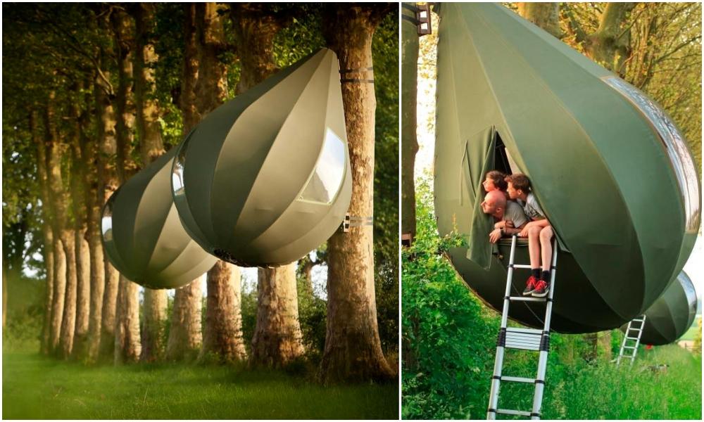Qui veut dormir dans une cabane en forme de grosse boule qui se balance ?