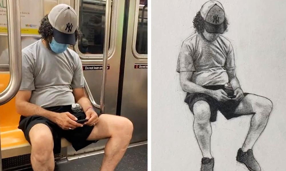 Cet artiste devient une star en peignant des inconnus dans le métro
