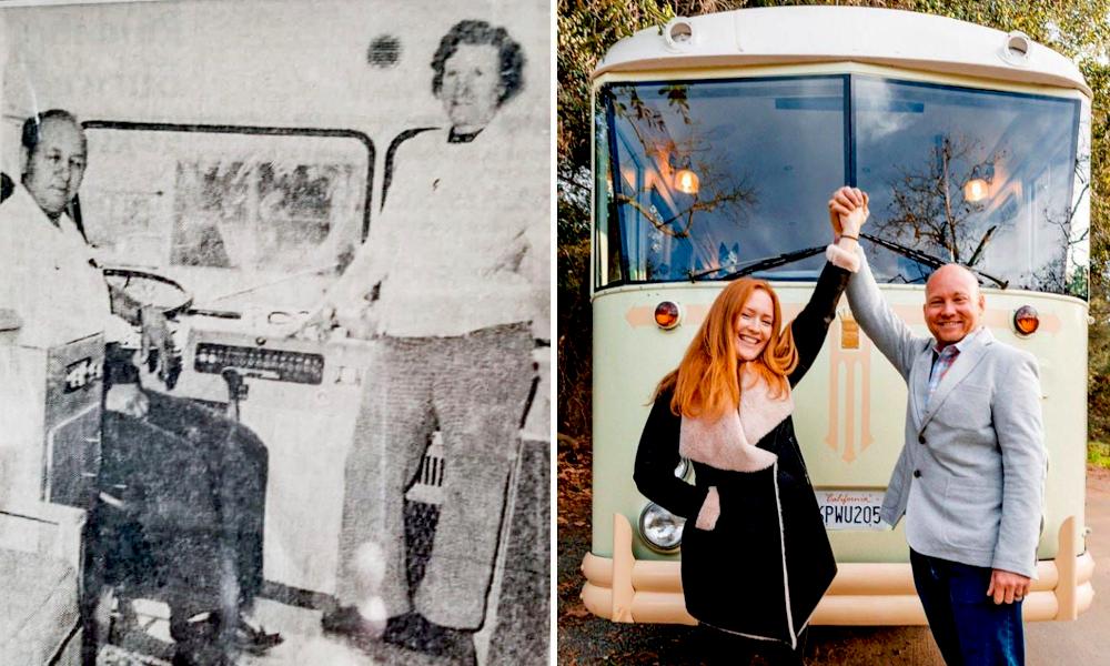 50 ans après ses grands-parents, il refait le même voyage dans le même bus