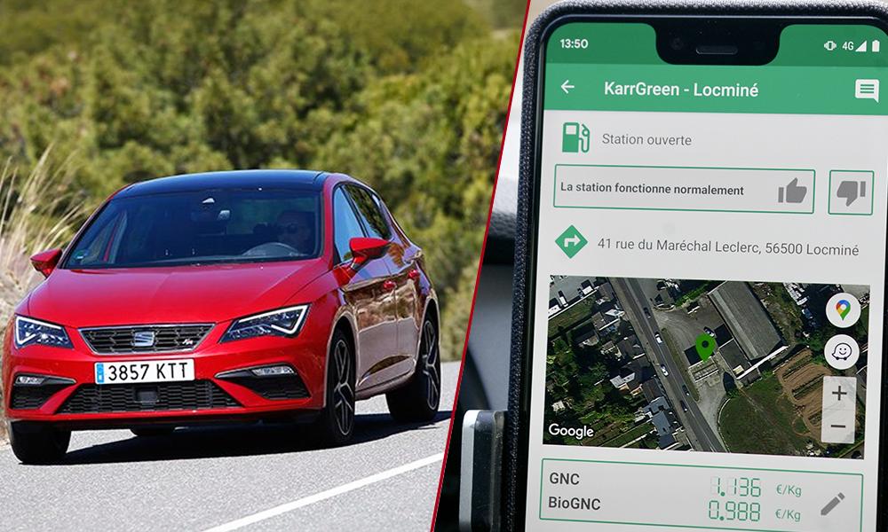 Propriétaire d'une SEAT Leon, il crée une appli pour trouver toutes les stations GNV